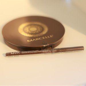 NYX Bronze Eyeliner & Marcelle Bronzing Powder